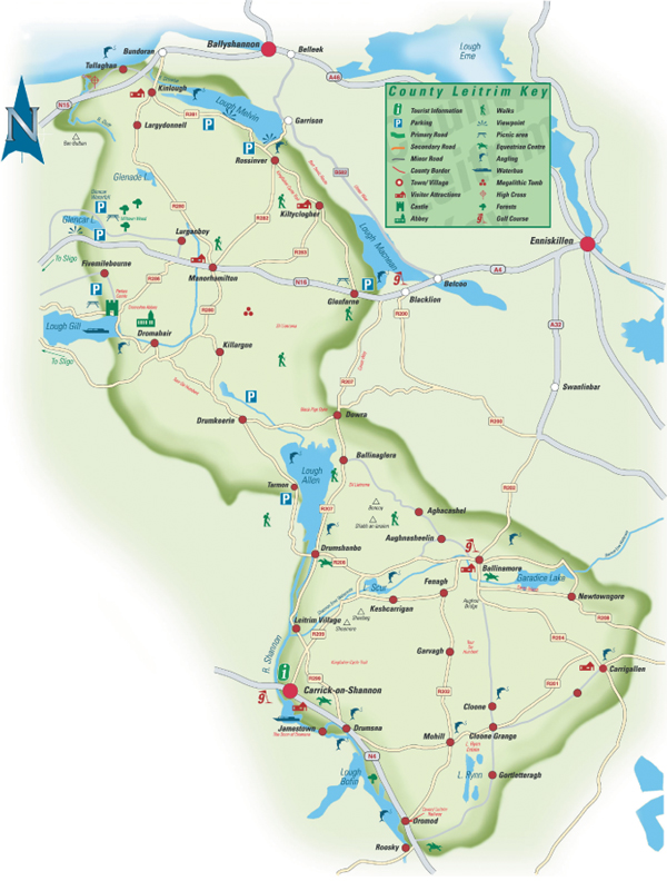 Map Of Northern Ireland Counties And Towns.Leitrim Genealogy Centre About County Leitrim Carrick On Shannon